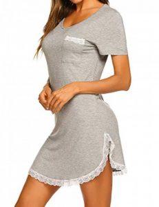 MAXMODA Chemise de Nuit Femme Pyjama Manche Courte Robe de Nuit Été Casual S-XXL de la marque MAXMODA image 0 produit