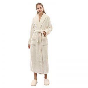 MCYs Peignoir Femme Velours Robe de Chambre Polaire Chaud Long Flanelle Peignoir de Bain Homme Eponge Hiver Longue Taille(M/XL/3XL) de la marque MCYS image 0 produit
