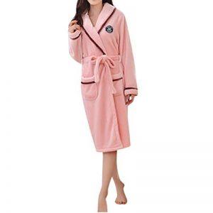 MCYs Pyjama Homme Polaire Robe Peignoir Pas Cher personnalisé Robe Chambre Homme Longue Hiver(M-XXL de la marque MCYs image 0 produit