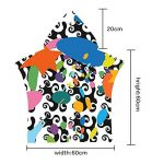 Meiju - Poncho à Capuchon pour Enfants avec Peignoir en Microfibre, idéal pour la baignade, Le Surf et Le Bain (Style 33,60_x_80_cm) de la marque Meiju image 3 produit