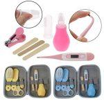 Mentin 8Pcs/ensemble Kit de soins bébé Infirmière nouveau-né Bébé Clou Cheveux Soins de santé Des gamins Thermomètre Toilettage Brosse Trousse (Jaune) de la marque Mentin image 2 produit