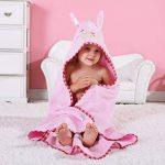 MICHLEY BéBé Peignoir Coton Mignonne Visage d'animal Hooded Enfant Serviette Peignoir de Bain pour garçons Filles de 0-6 Ans de la marque MICHLEY image 1 produit