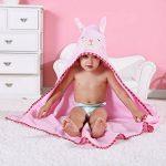 MICHLEY BéBé Peignoir Coton Mignonne Visage d'animal Hooded Enfant Serviette Peignoir de Bain pour garçons Filles de 0-6 Ans de la marque MICHLEY image 2 produit