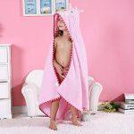 MICHLEY BéBé Peignoir Coton Mignonne Visage d'animal Hooded Enfant Serviette Peignoir de Bain pour garçons Filles de 0-6 Ans de la marque MICHLEY image 3 produit