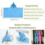 MICHLEY serviette de bain bebe, 100% coton naturel 60x120 cm couverture bebe cadeau naissance, drap de bain pour 0-5 année enfant, requin de la marque MICHLEY image 3 produit