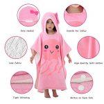 MICHLEY serviette de bain bebe, 70x70 cm Coton cape de bain pour les enfants de 2-6 ans, Méduse rose de la marque MICHLEY image 2 produit