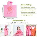 MICHLEY serviette de bain bebe, 70x70 cm Coton cape de bain pour les enfants de 2-6 ans, Méduse rose de la marque MICHLEY image 3 produit