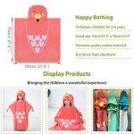 MICHLEY serviette de bain bebe, 70x70 cm Coton cape de bain pour les enfants de 2-6 ans, oiseau rouge de la marque MICHLEY image 3 produit