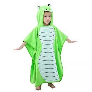 MICHLEY serviette de bain bebe, 70x70 cm Coton cape de bain pour les enfants de 2-6 ans,Vert de la marque MICHLEY image 0 produit