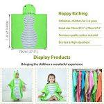 MICHLEY serviette de bain bebe, 70x70 cm Coton cape de bain pour les enfants de 2-6 ans,Vert de la marque MICHLEY image 3 produit