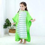 MICHLEY serviette de bain bebe, 70x70 cm Coton cape de bain pour les enfants de 2-6 ans,Vert de la marque MICHLEY image 4 produit