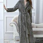 Microfibre Peignoir de Bain pour Femme Robe de Chambre Longue en Eponge, Femme Peignoir Longue Doux Chaud Douillet Hiver de la marque PUTUO image 1 produit