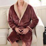 Millenniums Homme Peignoir de Bain en Polaire Flanelle Haut de Gamme Épais Chaud Hiver Éponge Douce Robe de Chambre Kimono Unisexe Vêtements de Nuit Grande Taille L-3XL de la marque Millenniums image 1 produit