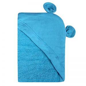 Minene enfants bébé Serviette de bain à capuche Tablier avec ours oreilles, 70x 70cm, Aqua de la marque Minene image 0 produit