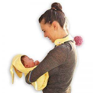 Minene enfants bébé Serviette de bain à capuche Tablier avec ours oreilles, 70x 70cm, Jaune de la marque Minene image 0 produit