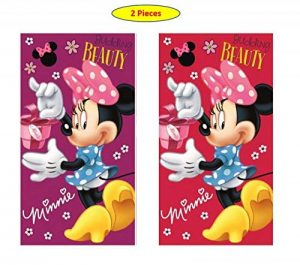 Minnie Disney MS01 Lot de 2 Serviettes de Toilette pour Enfant 35 x 65 cm, Minnie 05, 35 x 65 cm de la marque Minnie image 0 produit