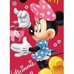 Minnie Disney MS01 Lot de 2 Serviettes de Toilette pour Enfant 35 x 65 cm, Minnie 05, 35 x 65 cm de la marque Minnie image 1 produit