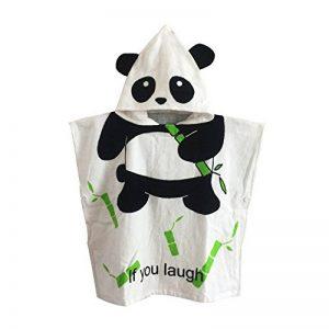Missley Peignoir de bain pour enfants en coton cape cape capuche serviette de bain serviette de plage (panda) de la marque Missley image 0 produit