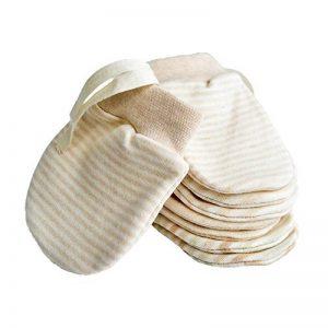 Mitaines nouveau-nés Mitaines bébé sans égratignures Mitaines en coton bio Gants pour bébé de 0 à 6 mois de la marque Mifz image 0 produit