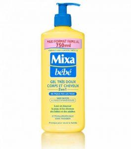 Mixa Bébé Gel Très Doux Corps et Cheveux 2en1 sans Savon Maxi Format Familial 750 ml de la marque Mixa image 0 produit