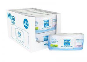 Mixa Bébé Lingettes au Lait de Toilete - 864 Lingettes (12 lots de 72) de la marque Mixa image 0 produit