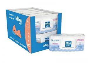 Mixa Lingettes a l'Eau Minerale Naturelle - 864 Lingettes (12 lots de 72) de la marque Mixa image 0 produit