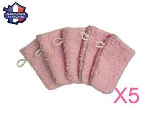 MODULIT: Lot de 5 petits gants de toilette d'apprentissage pour bébé/enfant Rose de la marque MODULIT image 0 produit