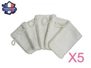 Modulit - Lot de 5 petits gants de toilette d apprentissage pour bébé/enfant (Blanc) Fabrication Française de la marque MODULIT image 0 produit