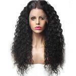 Momola Perruque Bouclée Bresilienne Avec Des Cheveux De Bébé Lace Frontale Wig Deep Wave Perruque Cheveux Noir Naturel 24 pouce de la marque Momola_ beauté image 1 produit