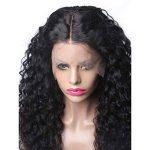 Momola Perruque Bouclée Bresilienne Avec Des Cheveux De Bébé Lace Frontale Wig Deep Wave Perruque Cheveux Noir Naturel 24 pouce de la marque Momola_ beauté image 4 produit