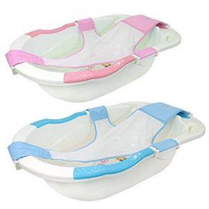 Monsieur Bébé ® Baignoire bébé évolutive avec hamac de bain + grip + vidange - Trois coloris - Norme XP 54-044 de la marque Monsieur-Bébé image 0 produit