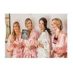 Morbuy Femmes Kimono vêtements de Nuit Mariée Robes de Chambre Kimonos Longue Estampage à Chaud Satin Rayonne Peignoir Chemise de Nuit de la marque Morbuy image 3 produit