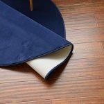 Morbuy Tapis Rond Lavable en Machine Toison de Corail Anti Slip Chambre à Coucher Salon Tapis d'Entrée Absorbant Antidérapant Coussin (100cm, Bleu Marine) de la marque Morbuy image 2 produit