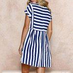 MORCHAN Aux Femmes Vacances à Manches Courtes rayé Dames été Plage Mini Swing Sun Dress de la marque MORCHAN image 3 produit
