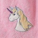 Morgenstern, grande éponge–– Poncho de bain en 100% coton, couleur rose, motif Licorne, Taille One Size (env. 1à 3ans), Unicorn de la marque Morgenstern image 1 produit