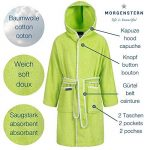 Morgenstern Peignoir Fille et Enfant garçon avec Capuche 100% Coton Tailles 98/104 à 170/176 Disponibles de la marque Morgenstern image 3 produit