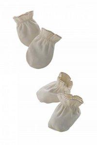 Morning Twinkle set de moufles anti-griffures et chaussons bébé, 100% coton bio - pour nouveau-né garçon ou fille 0-3 mois (Made in Korea) de la marque Morning Twinkle image 0 produit