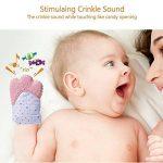 Moufles Gant de dentition bebe,Baby Mitten apaisante Pain Relief Silicone mitaine de dentition sangle réglable Âge 3–12 mois (pink) de la marque GOAMZ image 2 produit