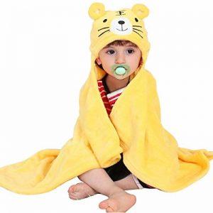 Mture Sortie de bain a capuche, drap de bain bebe, Mignon Animal Peignoir Sortie de Bain Pour Bébé - jaune de la marque Mture image 0 produit