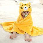 Mture Sortie de bain a capuche, drap de bain bebe, Mignon Animal Peignoir Sortie de Bain Pour Bébé - jaune de la marque Mture image 1 produit
