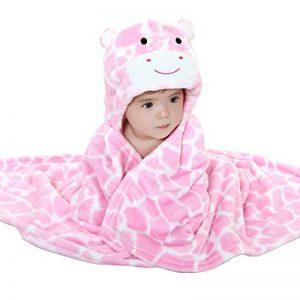 Mture Sortie de bain a capuche, drap de bain bebe, Mignon Animal Peignoir Sortie de Bain Pour Bébé (rose) de la marque Mture image 0 produit
