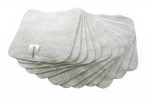 Muslinz 12pk Lingettes en bambou Lingettes en coton éponge 20x 20cms Gant de toilette lavable réutilisable bébé Lingettes de la marque MuslinZ image 0 produit