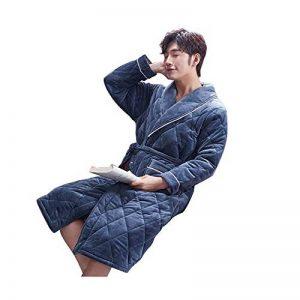 NAN liang Couple Robes, Peignoir De Luxe Peignoirs À Trois Épaisseurs Pour Hommes Et Femmes Peignoirs De Bain XL (Couleur : A, taille : XXL) de la marque Peignoir image 0 produit