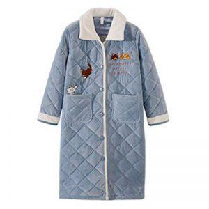 NAN liang Peignoir pour femmes (S - XXL) - Peignoirs de luxe 100% coton - Peignoir en éponge avec capuche 2 poches Confortable (taille : L) de la marque Peignoir image 0 produit