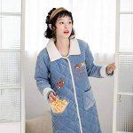 NAN liang Peignoir pour femmes (S - XXL) - Peignoirs de luxe 100% coton - Peignoir en éponge avec capuche 2 poches Confortable (taille : L) de la marque Peignoir image 3 produit