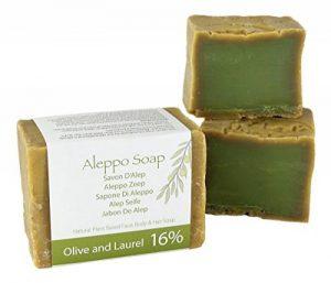 Naturel Alep Savon (Aleppo) traditionnellement fabriqué à la main - Huiles d'olive et de laurier 200 gm de la marque Amity image 0 produit