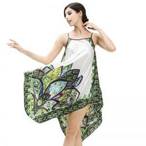 NiSeng Femme Peignoir de Bain en Satin Pyjama Short Fronde Backless de la marque NiSeng image 0 produit