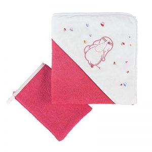 NOUKIES BB1589.50 Set de Bain Framboise/Blanc Motif Anna/Pili de la marque Noukies image 0 produit
