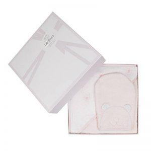 NOUKIES Boîte Cadeau Set de Bain Rose Cocon/Blanc 25 x 8 x 34 cm de la marque Noukies image 0 produit