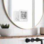 Numérique Horloge étanche Douche Ventouse de Salle Bain Murale Minuterie à écran Tactile avec Cuisine Hygromètre Affichage D'humidité Thermomètre Intérieur Cuisine Grand écran Réveil Numérique (Blanc) de la marque ButerDem image 1 produit